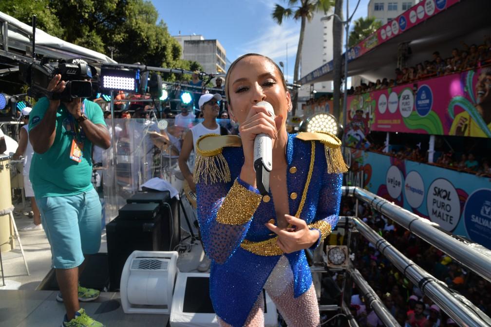 Claudia Leitte no carnaval de Salvador nesta segunda-feira (24) — Foto: Sérgio Pedreira/Ag. Haack
