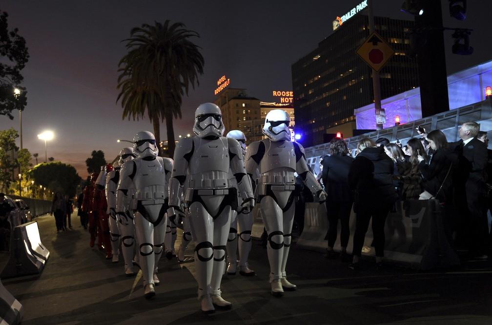 """Pré-estreia do filme """"Star Wars: A Ascensão Skywalker"""" — Foto: AP Photo/Chris Pizzello"""