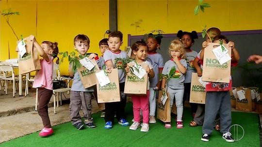 Projeto de conscientização ambiental da Inter TV é realizado em Nova Friburgo