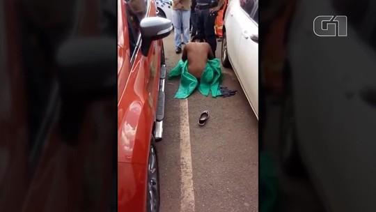 PM fardado é detido após agredir e deixar mulher nua em rua no DF