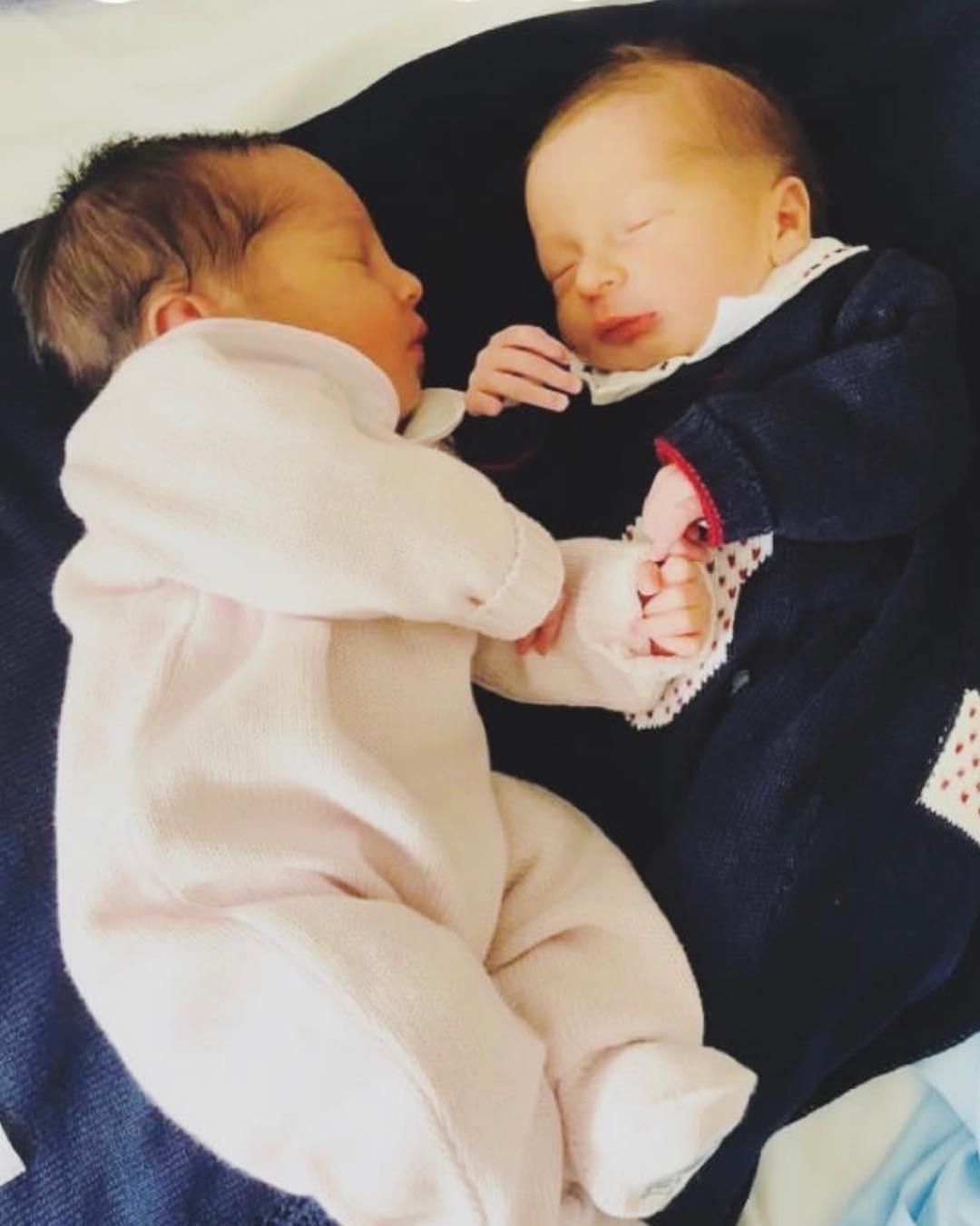 Elise e Antoine, filhos de Erick e Rosângela Jacquin, em foto de Edouard Jacquin (Foto: Reprodução / Instagram)