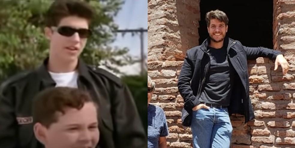 O ator Gustavo Toledo que interpretou o Quincas em imagem do filme lanado em 1995 e em 2020 Foto Reproduo esquerda e arquivo pessoal direita