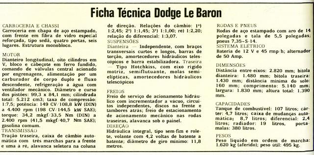 Ficha técnica publicada na edição de 1978 (Foto: Autoesporte)