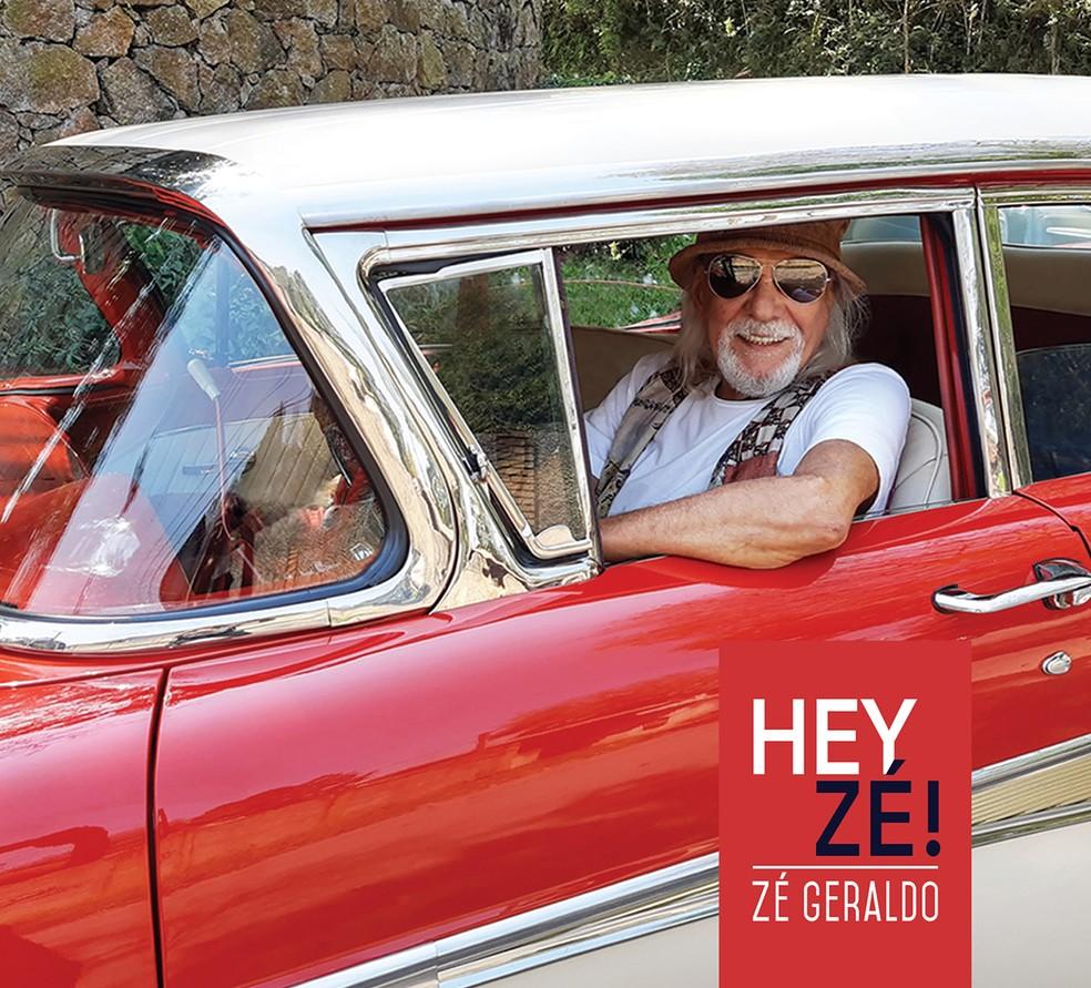 Capa do álbum 'Hey, Zé!', do cantor Zé Geraldo — Foto: Mônica Giacomini