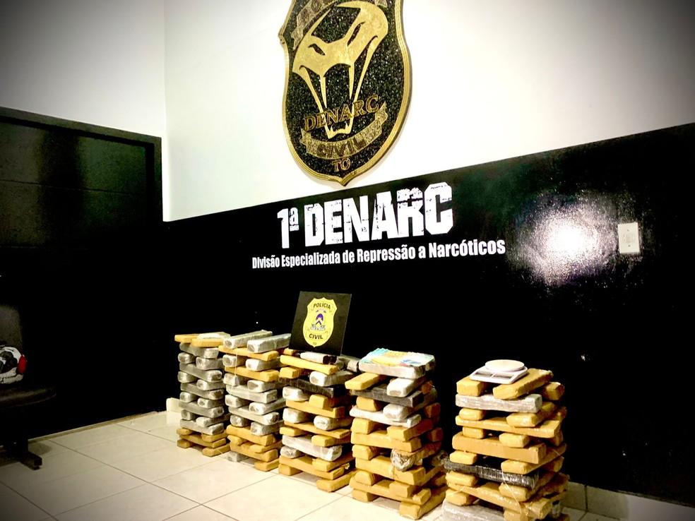 Drogas apreendidas pela Polícia Civil — Foto: DICOM SSP/Divulgação