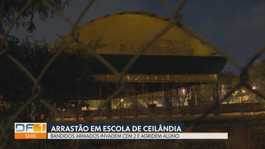 Bandidos fazem arrastão em escola de Ceilândia