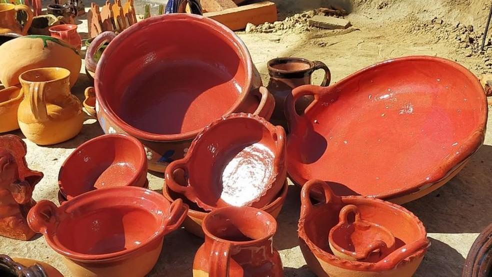 Cerâmica sem chumbo produzida por iniciativa da Pure Earth em Puebla, no México — Foto: PURE EARTH MÉXICO via BBC