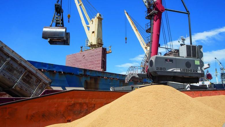 Porto de Rio Grande, que movimentou 1,6 milhão de toneladas de arroz entre janeiro e setembro deste ano (Foto: Carlos Stein)