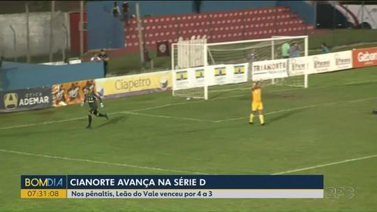 Cianorte avança na série D do Campeonato Brasileiro