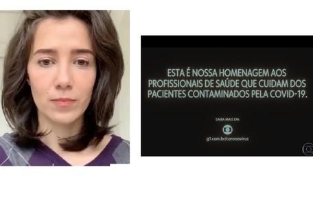 Marjorie Estiano compartilhou homenagem aos profissionais da saúde e escreveu: 'Defenda o SUS. Toda a minha admiração' Reprodução/Instagram