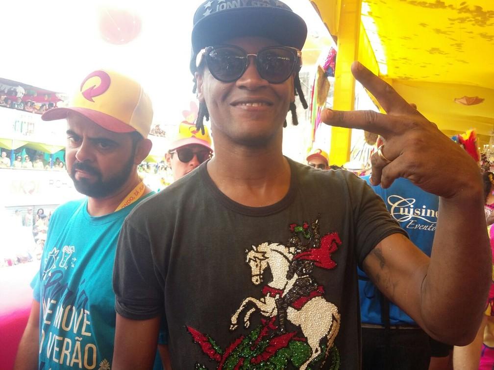 O cantor Toni Garrido volta mais uma vez ao Galo da Madrugada (Foto: Pedro Alves/G1)