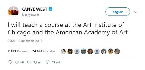 Art Institute of Chicago nega rumores de que Kanye West seria professor de arte (Foto: Getty Images)
