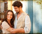 Açucena (Bianca Bin) e Jesuíno (Cauã Reymond) são os protagonistas de 'Cordel Encantado'  | TV Globo