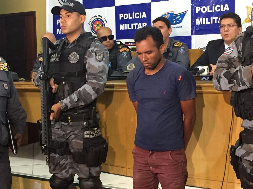 Robert Serejo, durante apresentação no Comando Geral da Polícia Militar do Maranhão (Foto: Mirante AM/Marcos Vinicios)
