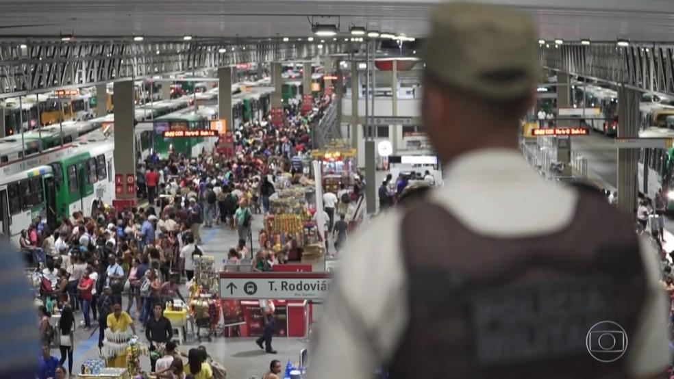 Em Salvador, câmeras foram instaladas em locais de grande movimentação — Foto: Reprodução/TV Globo