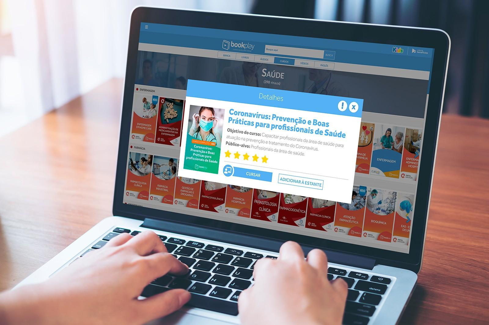 Bookplay libera curso sobre Coronavírus para os profissionais de saúde