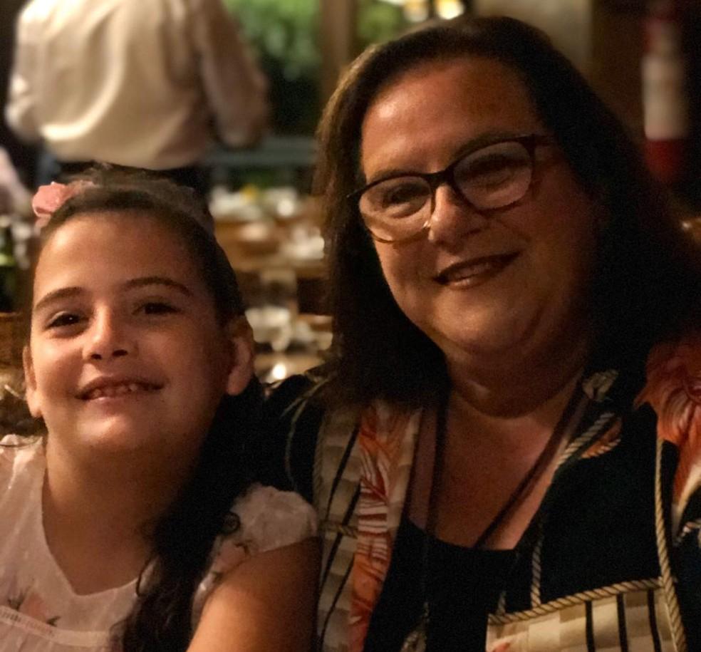 Carol e a mãe Liane. — Foto: Arquivo pessoal