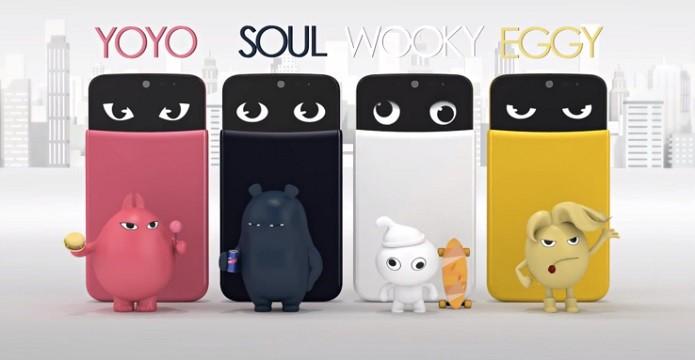 LG lançou telefones com personagens virtuais (Foto: Divulgação)