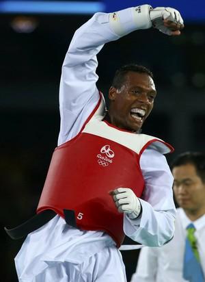 taekwondo, Maicon Andrade, Mahama Cho (Foto: REUTERS / Peter Cziborra)