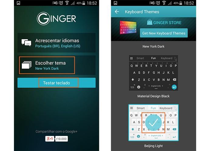 Personalize o tema do app (Foto: Reprodução/Barbara Mannara)