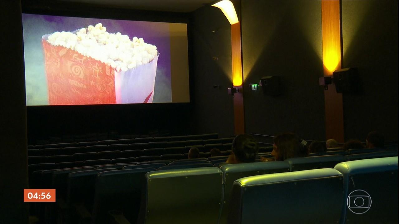Salas ficam vazias no primeiro fim de semana de reabertura dos cinemas, no RJ