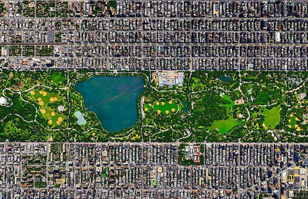 Central Park, Nova York, Estado Unidos (Foto: Divulgação/Daily Overview)