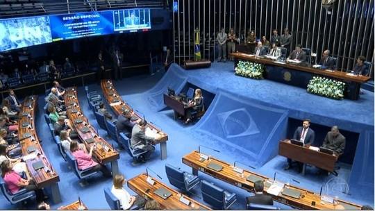 Senado faz sessão solene em homenagem aos 50 anos do Jornal Nacional
