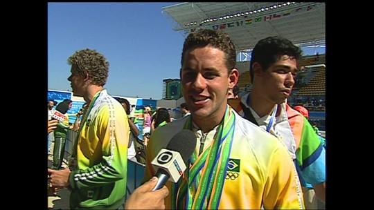 """Thiago Pereira recorda Pan do Rio: """"Saía de uma prova e perguntava: qual a próxima?"""""""