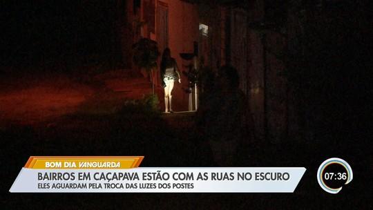 Moradores reclamam de falta de iluminação pública em bairros de Caçapava