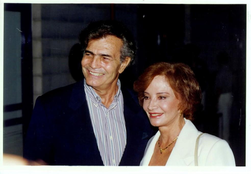 Tarcísio Meira e Glória Menezes na novela 'Torre de Babel' (1998) — Foto: Acervo Grupo Globo