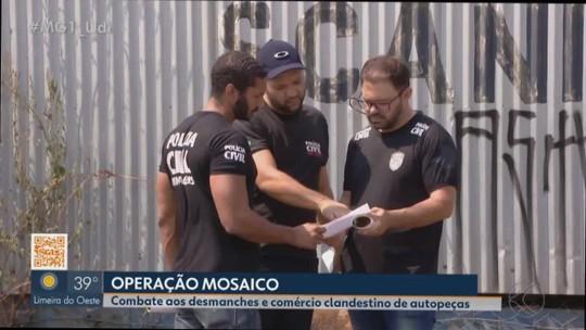 Polícia Civil faz operação no Triângulo e Alto Paranaíba para combater desmanches e comércio clandestino de autopeças