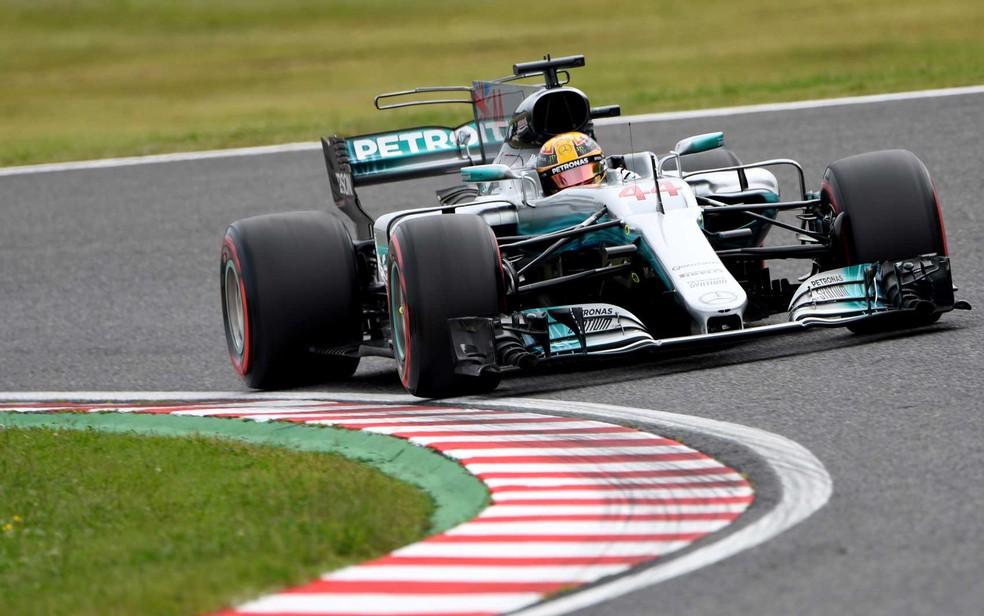O piloto britânico Lewis Hamilton (Foto: TOSHIFUMI KITAMURA / AFP Photo)