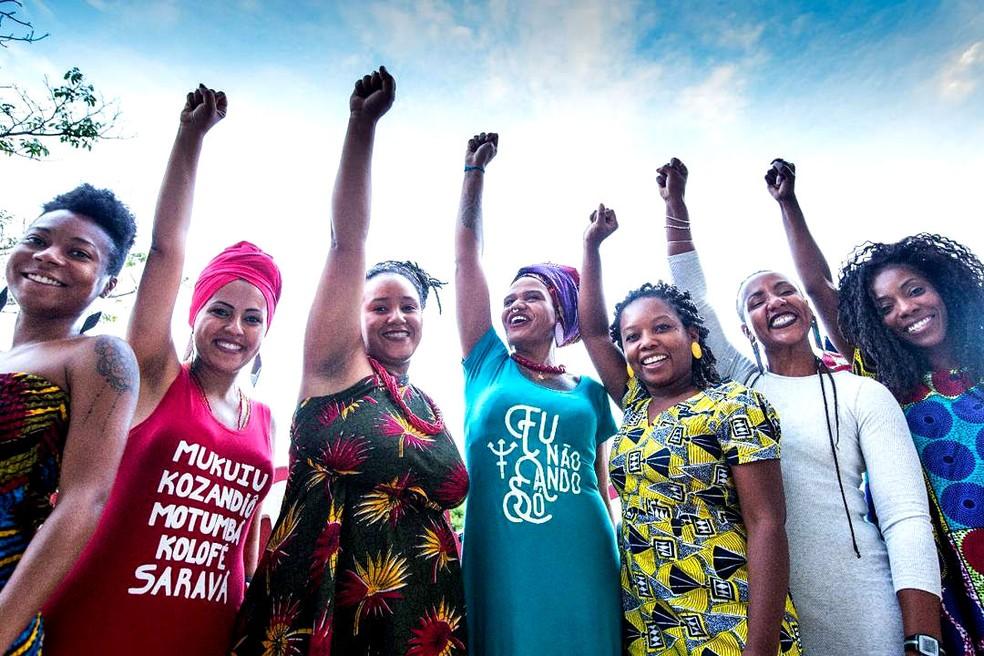 Mulher afro-empreendedoras durante o Festival Agô – Samba & Ancestralidade  — Foto: Festival Agô/Divulgação