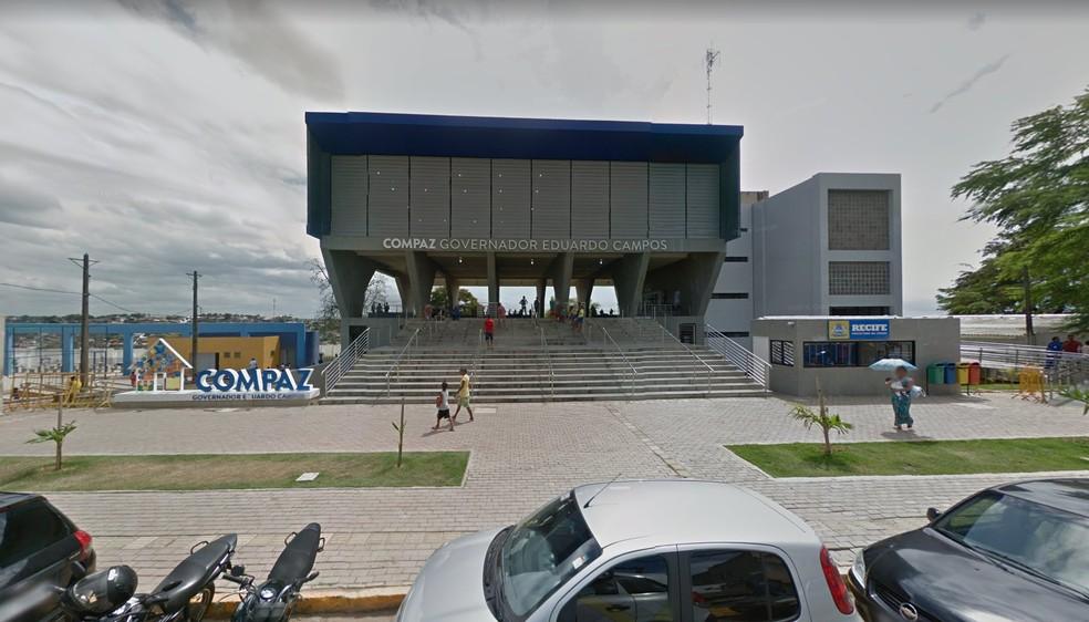 Compaz Governador Eduardo Campos fica no Alto Santa Terezinha, na Zona Norte do Recife — Foto: Reprodução/Google Street View