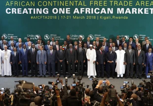 Batizado de Área de Livre Comércio da África (AfCFTA, na sigla em inglês), este é o maior o acordo de comércio desde a OMC (Foto: Reprodução/Instagram)