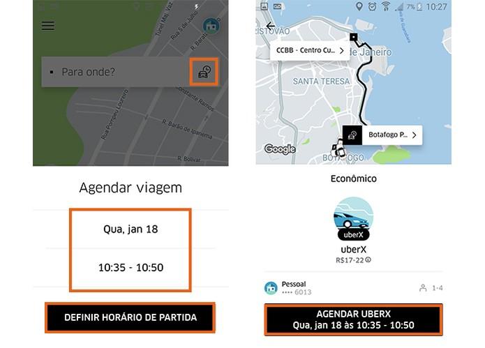 Agende sua corrida pelo Uber (Foto: Reprodução/Barbara Mannara)