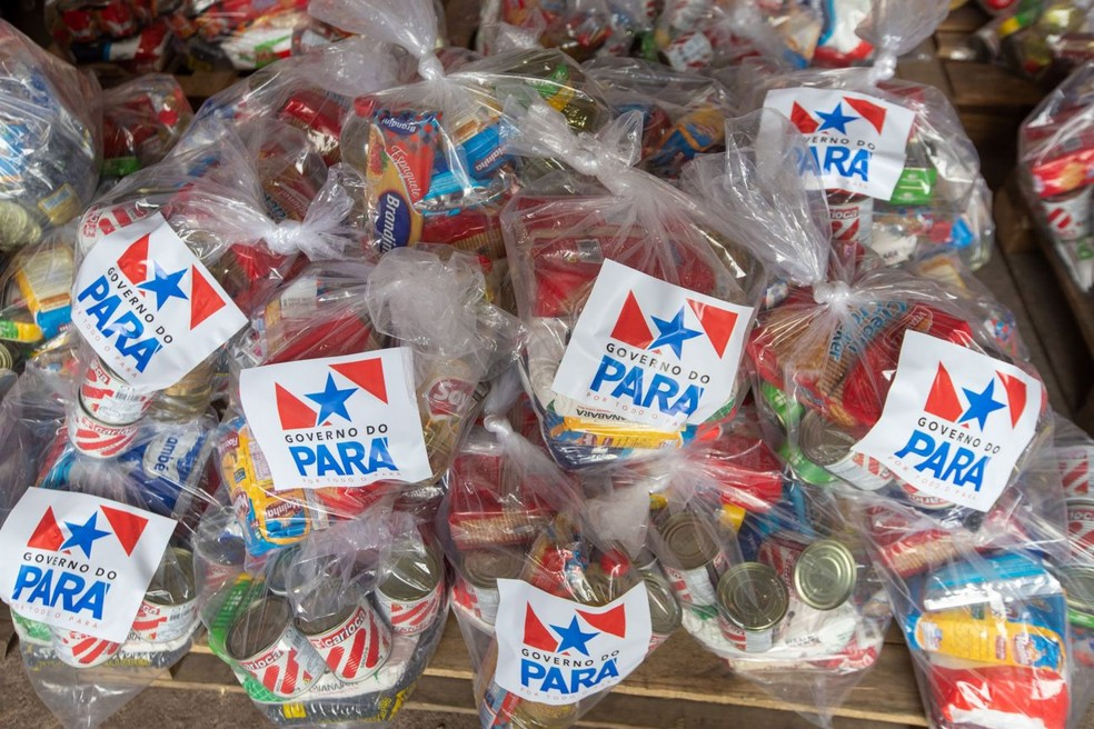 Mais de 500 mil cestas básicas são distribuídas pelas escolas da rede estadual do Pará — Foto: Marco Santos/Agência Pará