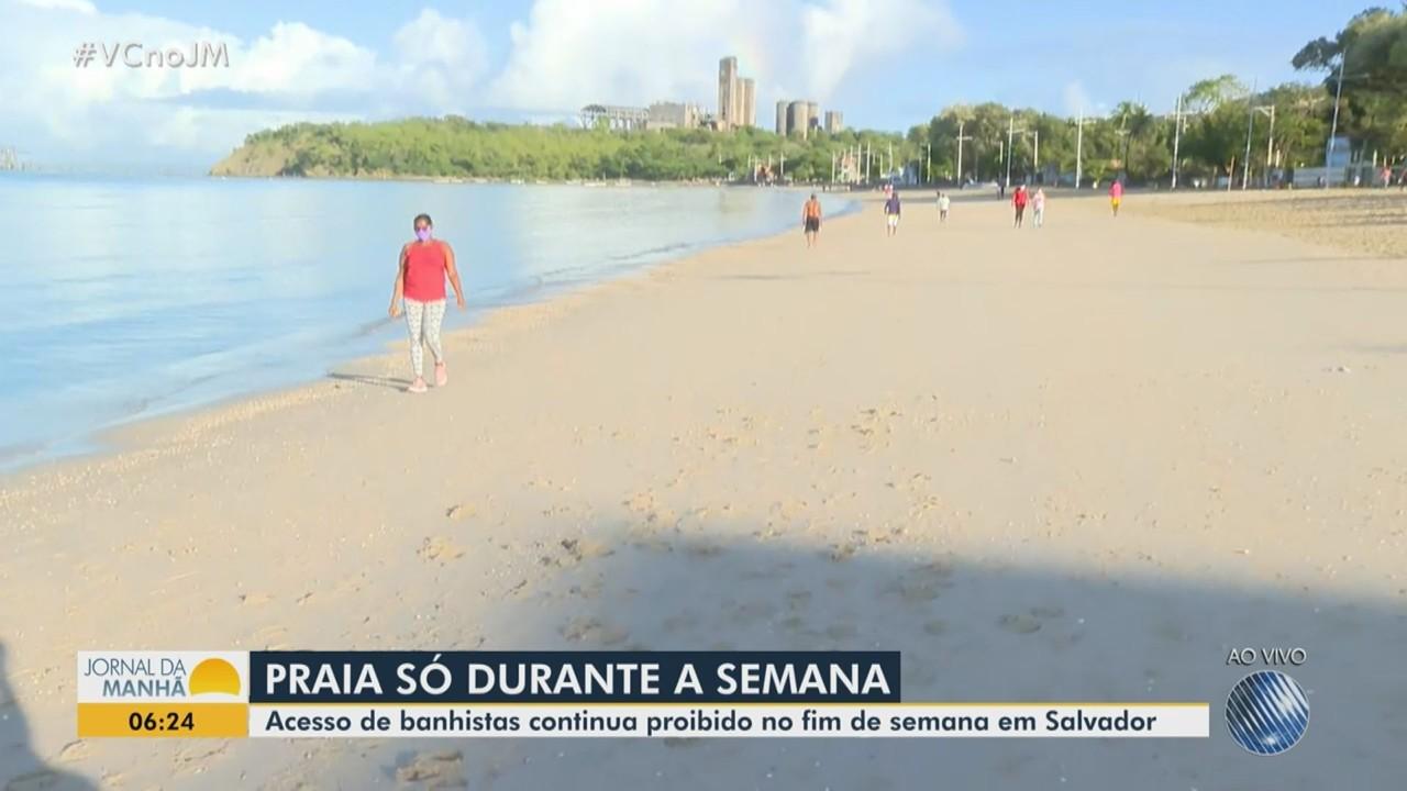 Praias de Salvador voltam a ser fechadas a partir de sábado, após reabertura