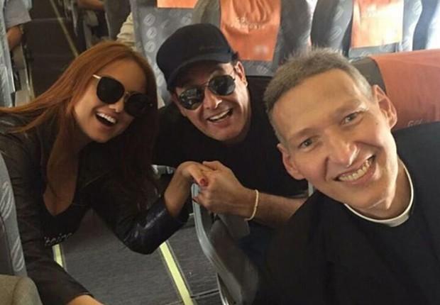 Ellen rocche, Sérgio Mallandro e Padre Marcelo Rossi (Foto: Reprodução/Instagram)
