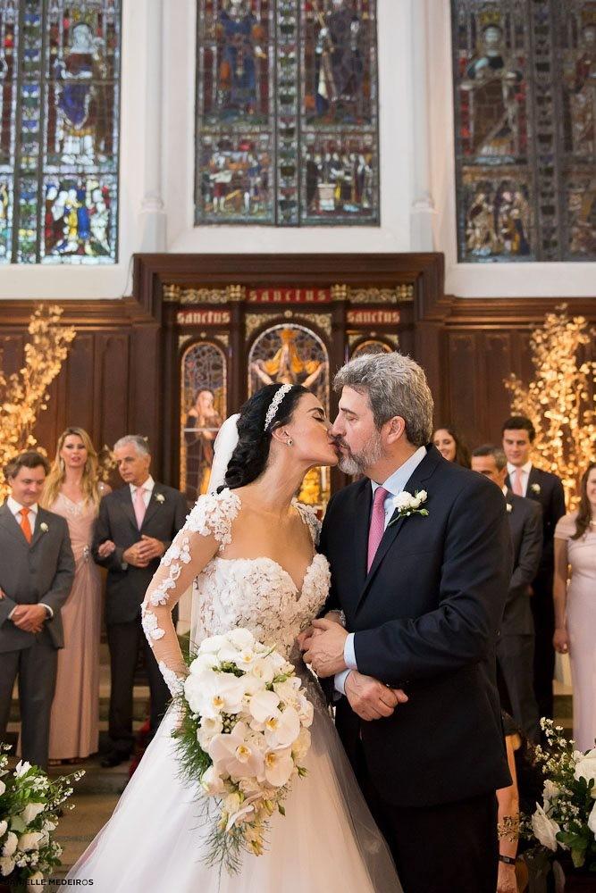 O casamento de Cristiane Machado e Sergio Schiller (Foto: Arquivo pessoal)