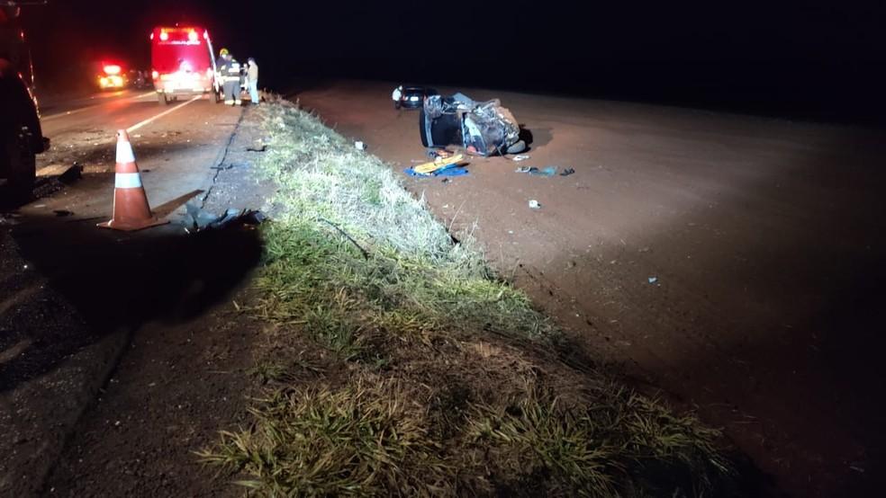 Jovem de 19 anos foi a única sobrevivente do acidente — Foto: Fernando Almeida / Santo Augusto Urgente