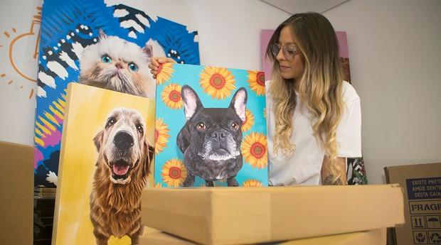 A Seu Pet Art doa parte de seu faturamento para ONGs (Foto: Divulgação)