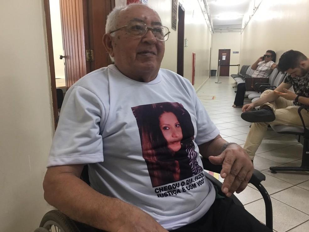 Pai de Joselita Félix acompanhou júri do caso da filha, em Porto Velho.  — Foto: Mayara Subtil/G1