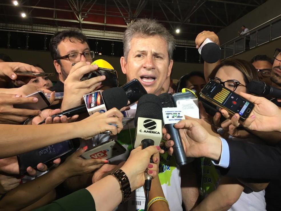 Mauro Mendes foi eleito governador de MT — Foto: Yago Oliveira/ G1