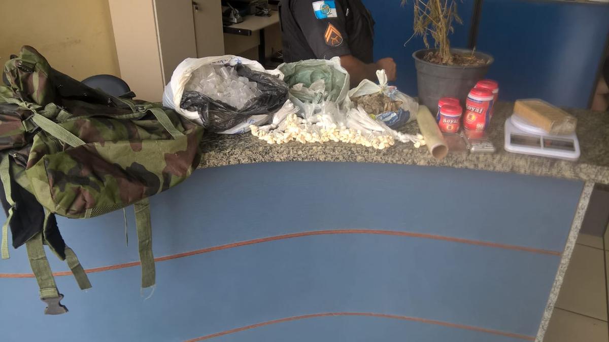 Polícia apreende drogas e pé de maconha em São João da Barra, no RJ