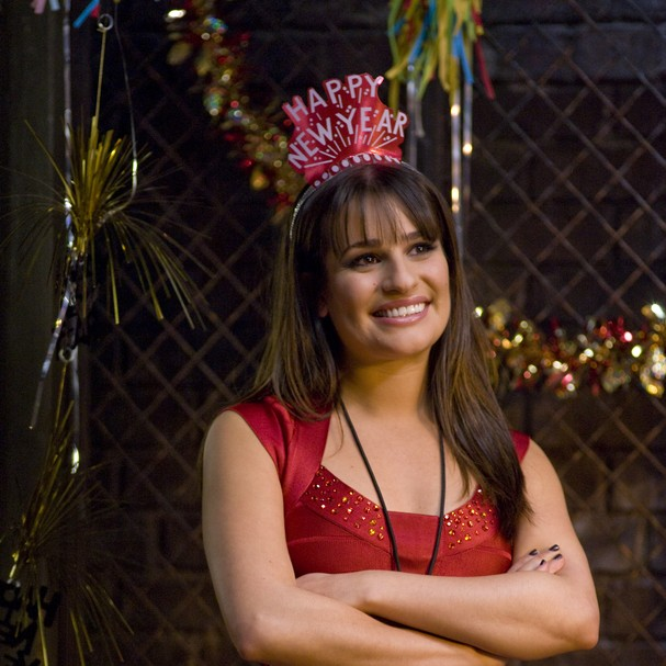 A atriz Lea Michele em cena do filme New Year's Eve (Noite de Ano Novo) (Foto: Reprodução/YouTube)