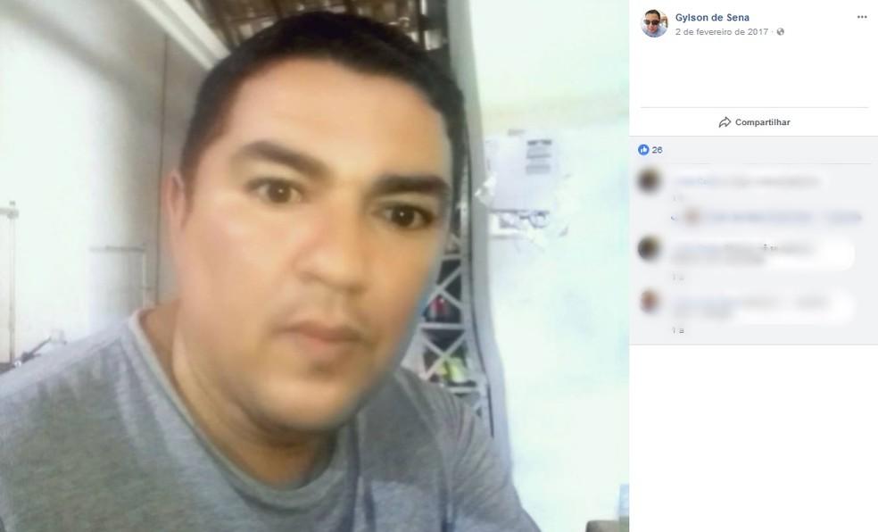 Agente penitenciário suspeito de matar a ex-mulher a tiros na noite desta quarta-feira (25), em Araçatuba  (Foto: Reprodução/Facebook)
