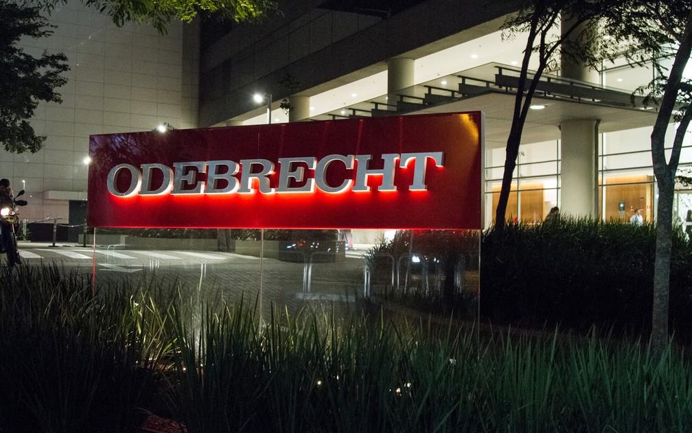 Fachada da sede da Odebrecht em SP — Foto: Kevin David/A7 Press/Estadão Conteúdo