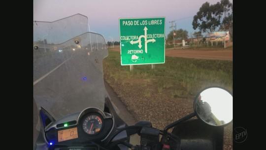 Educador realiza sonho de adolescência e viaja de moto de São Carlos até o Chile