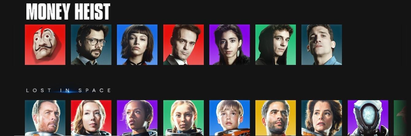 Algumas opções de avatares da Netflix (Foto: Reprodução/Instagram/Netflix Brasil)